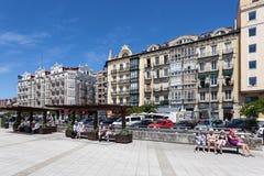 Promenade in Santander, Spanien Lizenzfreie Stockbilder
