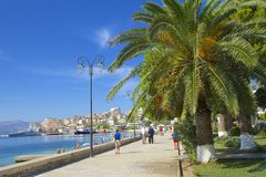Promenade in Saranda, Albania royalty free stock photos