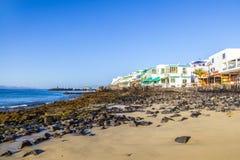 Promenade of scenic Playa Blanca Stock Photography