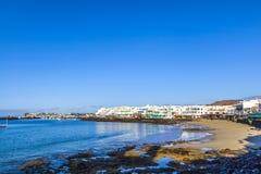 Promenade of scenic Playa Blanca Stock Images