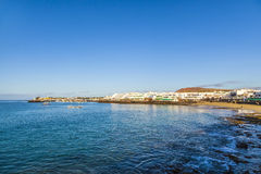 Promenade of scenic Playa Blanca Stock Images