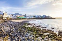 Promenade of scenic Playa Blanca Royalty Free Stock Photo