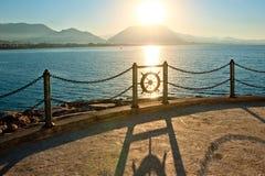 Promenade by the sea. Alania. Stock Image