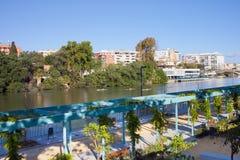 Promenade in Seville Stock Photography