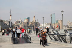 Promenade in Shanghai Stockfotos