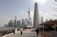 Promenade in Shanghai China Stock Foto