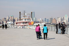 Promenade in Shanghai, China Royalty-vrije Stock Afbeeldingen