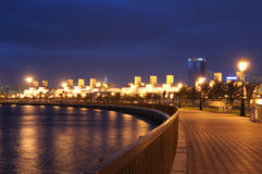 Promenade at Sharjah Creek Stock Photography