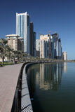 Promenade in Sharjah, UAE Stock Photo