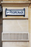 Promenade sign Royalty Free Stock Photo