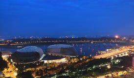 Promenade Singapore - Samenvatting Royalty-vrije Stock Afbeeldingen