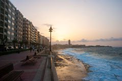 Promenade of Sliema, Malta Stock Photography