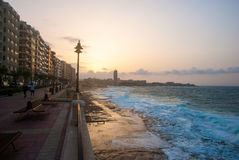 Promenade of Sliema, Malta Royalty Free Stock Photography
