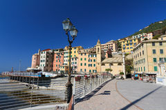 Promenade in Sori, Italy Royalty Free Stock Images