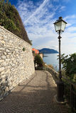 Promenade in Sori. Small village in Liguria, Italy Royalty Free Stock Images