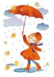 Promenade sous la pluie Photographie stock libre de droits
