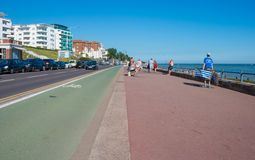 Promenade in Southend on sea in summer day Royalty Free Stock Image