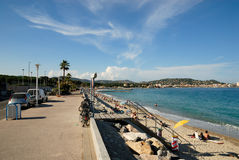 Promenade in southern France Royalty Free Stock Image