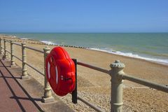 Promenade in St Leonard's and Hastings town in South coast of UK Royalty Free Stock Images
