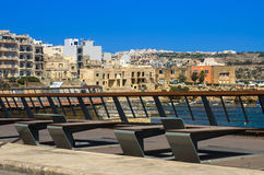 Malta, Seaside promenade Royalty Free Stock Photos
