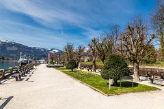 Promenade In St. Wolfgang Im Salzkammergut-Austria royalty free stock photo