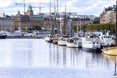 Promenade in Stockholm stock afbeelding