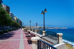 Promenade street in Sliema city on Malta. The street is called `Ix - Xatt Ta` Qui - Si - Sana royalty free stock images