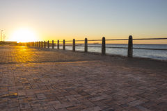Promenade at sunset Stock Photos