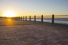 Promenade at sunset Stock Photos
