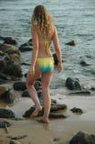 Promenade sur la plage Image libre de droits