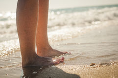 Promenade sur la plage Image stock