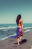 Promenade sur la plage Photo libre de droits