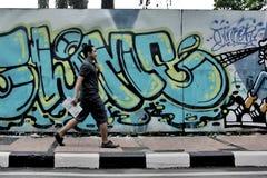Promenade sur la rue Photo libre de droits
