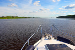 Promenade sur le bateau Photo stock