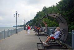 Promenade in Svetlogordk, Russia Royalty Free Stock Photography