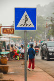 Promenade, symbole de promenade Photo stock
