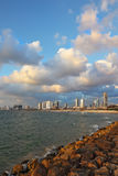The  promenade in Tel Aviv. Royalty Free Stock Images