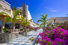 Promenade to the beach in Taurito on Gran Canaria Stock Photos