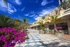 Promenade to the beach in Taurito on Gran Canaria Royalty Free Stock Photography