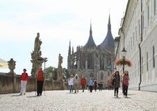 Promenade to Cathedral of St. Barbara Royalty Free Stock Photos