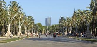 Promenade to the Parc de la Ciutadella Royalty Free Stock Photo
