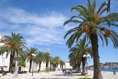 Promenade in Togir Kroatien Stockfoto