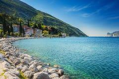 Promenade in Torbole near lake Garda royalty free stock photos