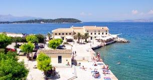 Promenade in the town of Corfu, Greece, Europe Stock Image