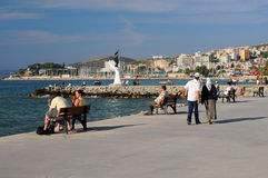 Promenade in the Town of Kusadasi Royalty Free Stock Photos