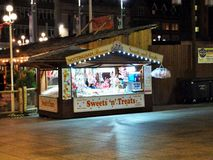 Promenade Treats. Stalls selling sweets and treats at the Nottingham beach in the Market Square Stock Photography
