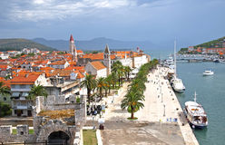 Promenade in Trogir Croatia Royalty Free Stock Photos