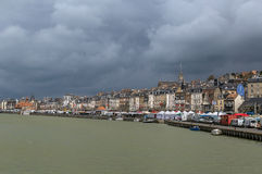 Promenade in Trouville-sur-Mer, France Stock Images