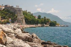Promenade van Herceg Novi stock foto