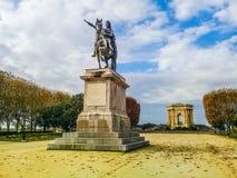 Promenade van Peyrou in Montpellier, Frankrijk stock afbeeldingen